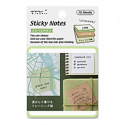 Midori Sticky Notes - 3 Soorten Papier - 70 stuks - Groen