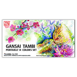Kuretake Gansai Tambi Portable Water Color Set - 14 kleuren