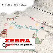 Zebra Mildliner Brush