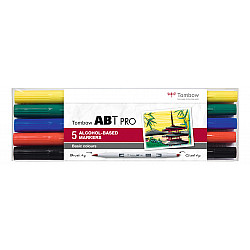 Tombow ABT PRO Alcohol Marker - Basic Colours - Set van 5