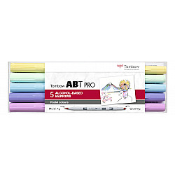 Tombow ABT PRO Alcohol Marker - Pastel Colours - Set van 5