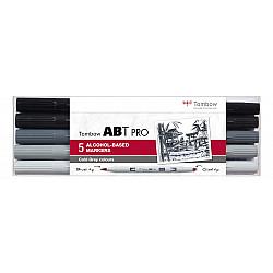 Tombow ABT PRO Alcohol Marker - Cold Grey Colours - Set van 5
