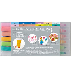Kuretake ZIG Clean Color Dot Double Sided Marker - Set van 12