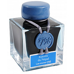 J. Herbin Limited Edition '1798' Inktpot - Kyanite de Népal - Blueish Turquoise