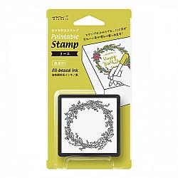 Midori Pre-Inked Stamp - Garland