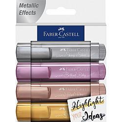Faber-Castell 1546 Textliner - Metallic Colours - Set van 4 (Set A)