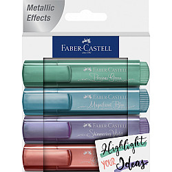 Faber-Castell 1546 Textliner - Metallic Colours - Set van 4 (Set B)