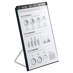 LIHIT LAB Clipboard met Standaard - Verticaal - A4 - Zwart
