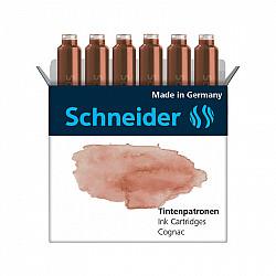 Schneider DIN formaat Vulpen Vullingen - Set van 6 - Pastel Cognac