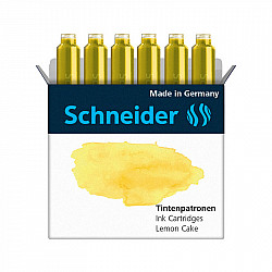Schneider DIN formaat Vulpen Vullingen - Set van 6 - Pastel Lemon Cake