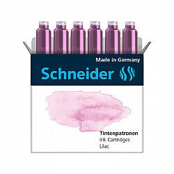 Schneider DIN formaat Vulpen Vullingen - Set van 6 - Pastel Lilac