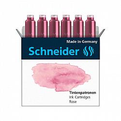 Schneider DIN formaat Vulpen Vullingen - Set van 6 - Pastel Rose