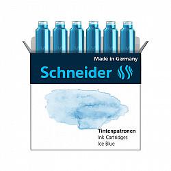Schneider DIN formaat Vulpen Vullingen - Set van 6 - Pastel Ice Blue