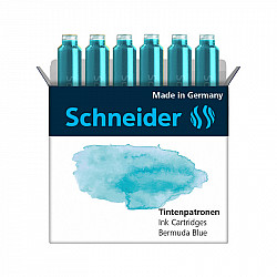 Schneider DIN formaat Vulpen Vullingen - Set van 6 - Pastel Bermuda Blue