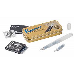 Kaweco Sport Calligraphy Pen Set in Metalen Doosje - Natural Coconut