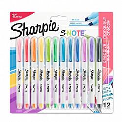Sharpie S-Note Double Sided Tekstmarker - Fine & Bold - Set van 12