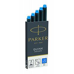Parker Quink Inktpatronen - Set van 5 - Koningsblauw