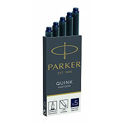 Parker Quink Inktpatronen - Set van 5 - Blauwzwart