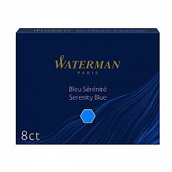 Waterman Groot Formaat Vulpen Inktpatronen - Set van 8 - Blauw