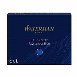 Waterman Groot Formaat Vulpen Inktpatronen - Set van 8 - Blauwzwart