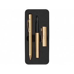 Faber-Castell Grip Vulpen & Ballpoint Set - Goud