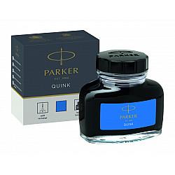 Parker Quink Inktpot - 57 ml - Blauw (Uitwasbaar)