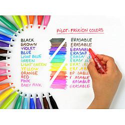 Pilot Frixion Colors Uitgumbare Viltstiften - Set van 12