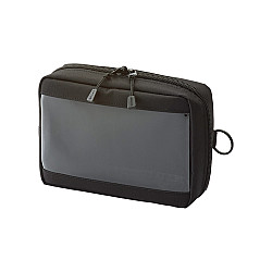 LIHIT LAB Smart Fit Clear Box Pouch - A6 Formaat - Zwart