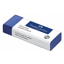 Faber-Castell 187200 PVC-free Eraser Gum voor Potloden - Medium - Blauw