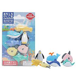 Iwako Novelty Eraser Gummetjes - Marine Animals - Set van 7