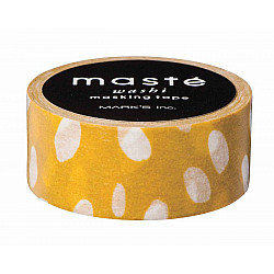 Mark's Japan Maste Washi Masking Tape - Mustard-Dot Drops (Limited Edition)