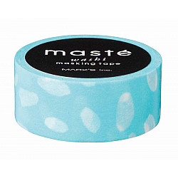 Mark's Japan Maste Washi Masking Tape - Sky Blue-Dot Drops (Limited Edition)