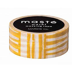 Mark's Japan Maste Washi Masking Tape - Mustard Brush (Limited Edition)
