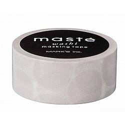 Mark's Japan Maste Washi Masking Tape - Warm Grey Coin Dots (Limited Edition)