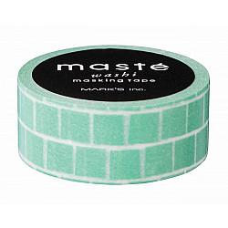 Mark's Japan Maste Washi Masking Tape - Green Block (Limited Edition)