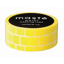 Mark's Japan Maste Washi Masking Tape - Yellow Block (Limited Edition)