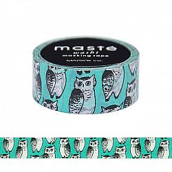 Mark's Japan Maste Washi Masking Tape - Owl (Marble Sud x Maste Limited Edition)