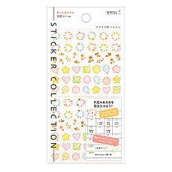 Midori Sticker Collection - Date - Shiny Twinkling Pastel