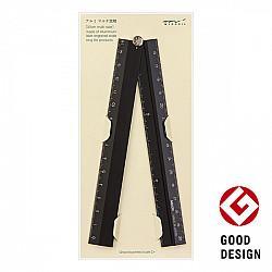 Midori Aluminium Multi Ruler Liniaal - Opvouwbaar - 30 cm - Zwart
