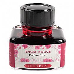 J. Herbin Vulpen Inkt - 30 ml - Rood - Met rozengeur
