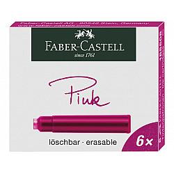 Faber-Castell DIN formaat Vulpen Vullingen - Set van 6 - Roze