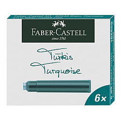 Faber-Castell DIN formaat Vulpen Vullingen - Set van 6 - Turquoise