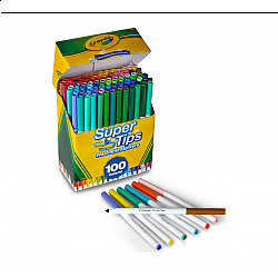 Crayola Supertips Uitwasbare Viltstiften - Set van 100