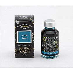 Diamine Shimmering Vulpen Inkt - 50 ml - Arctic Blue