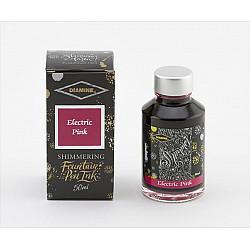 Diamine Shimmering Vulpen Inkt - 50 ml - Electric Pink