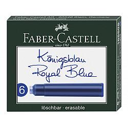Faber-Castell DIN formaat Vulpen Vullingen - Set van 6 - Koningsblauw