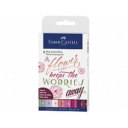Faber-Castell Pitt Artist Hand Lettering Pen - Set van 8
