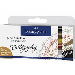 Faber-Castell Pitt Artist Pen - C (Calligraphy) - Set van 6