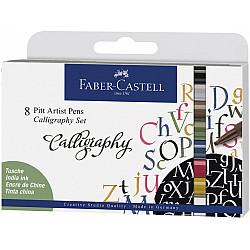 Faber-Castell Pitt Artist Pen - C (Calligraphy) - Set van 8