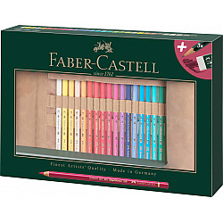 Faber-Castell Polychromos Kleurpotlood - Set van 30 met Rol Etui en Accessoires